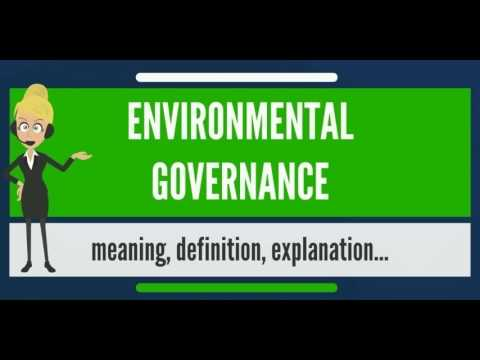 Environmental Governance [5 ECTS]
